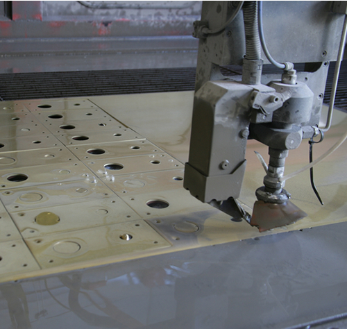 water jet, special alloy manifacturing